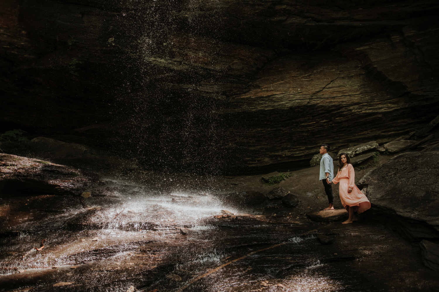 Pisgah National Forest Waterfall Engagement